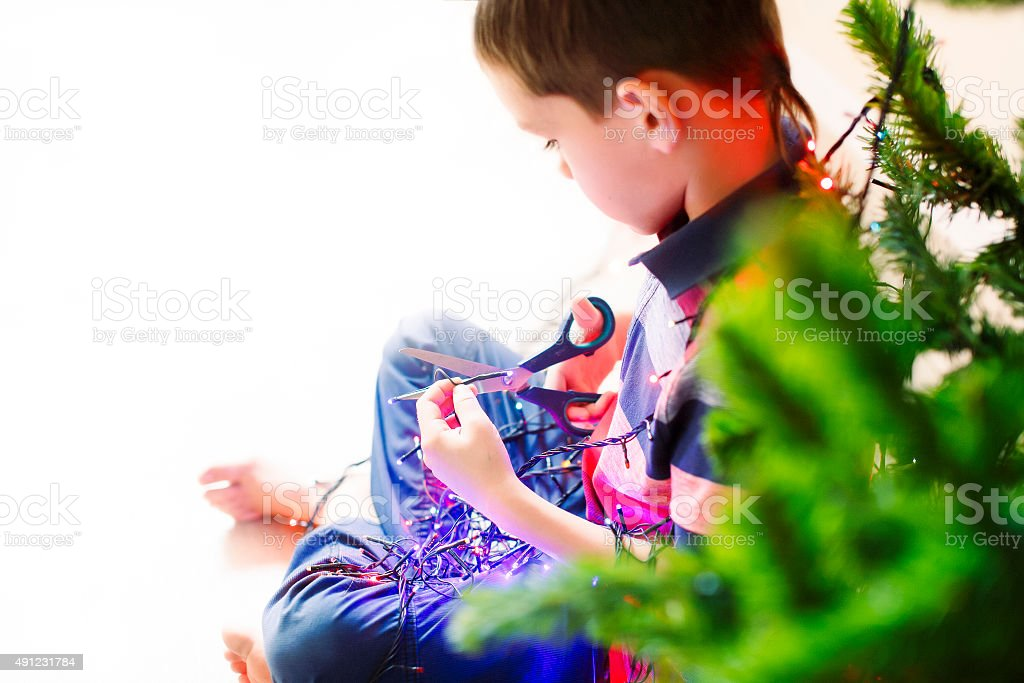 one second before the electric shock stock photo