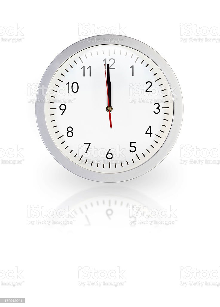 One second to midnight/midday royalty-free stock photo