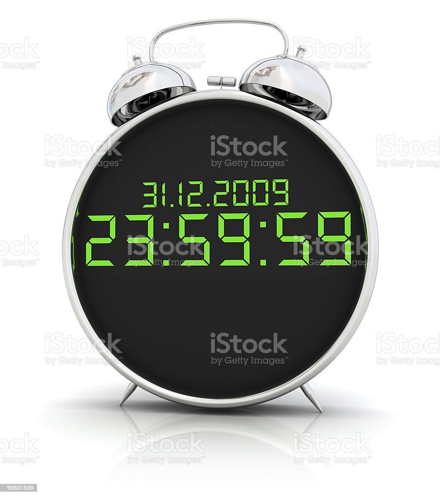 One second to new year stock photo