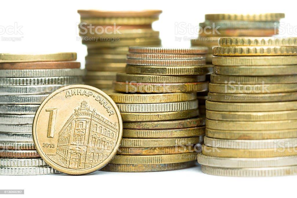 One Serbian Dinar Coin Stock Photo 513050282 Istock