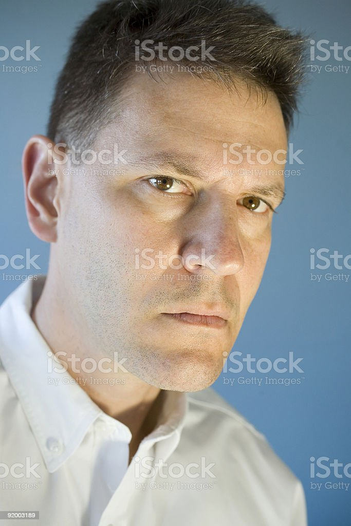 One Serious Man royalty-free stock photo