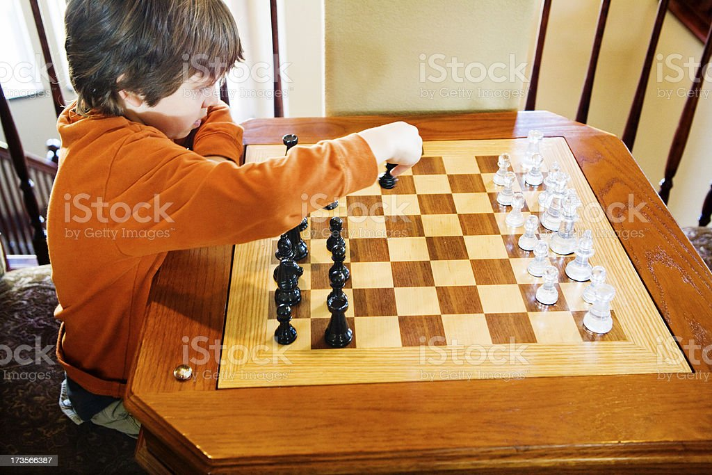 One Set Of Chess stock photo