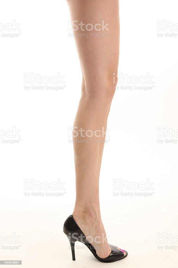 Una sexy mujer de piernas foto de stock libre de derechos