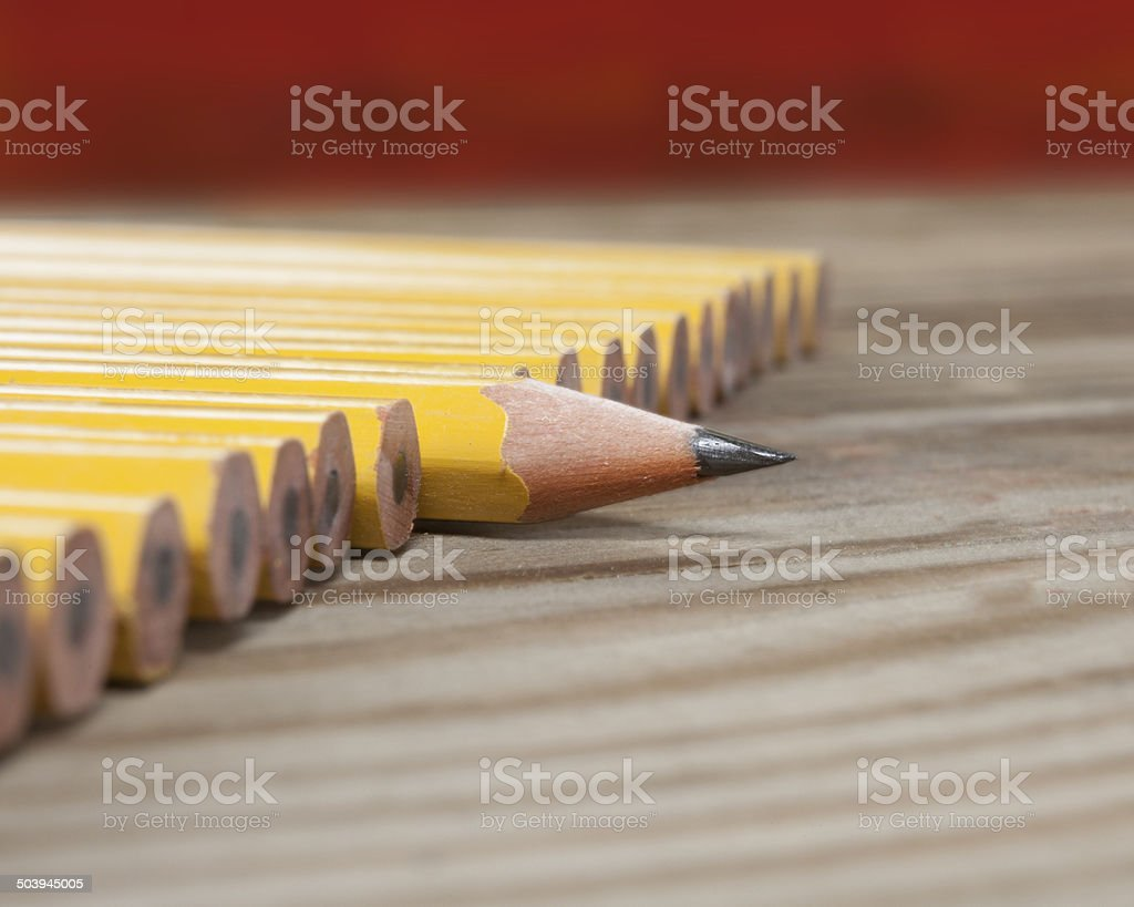 One sharp pencil stock photo