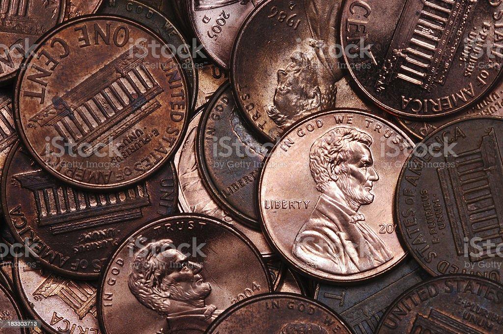 One Shiny Penny royalty-free stock photo
