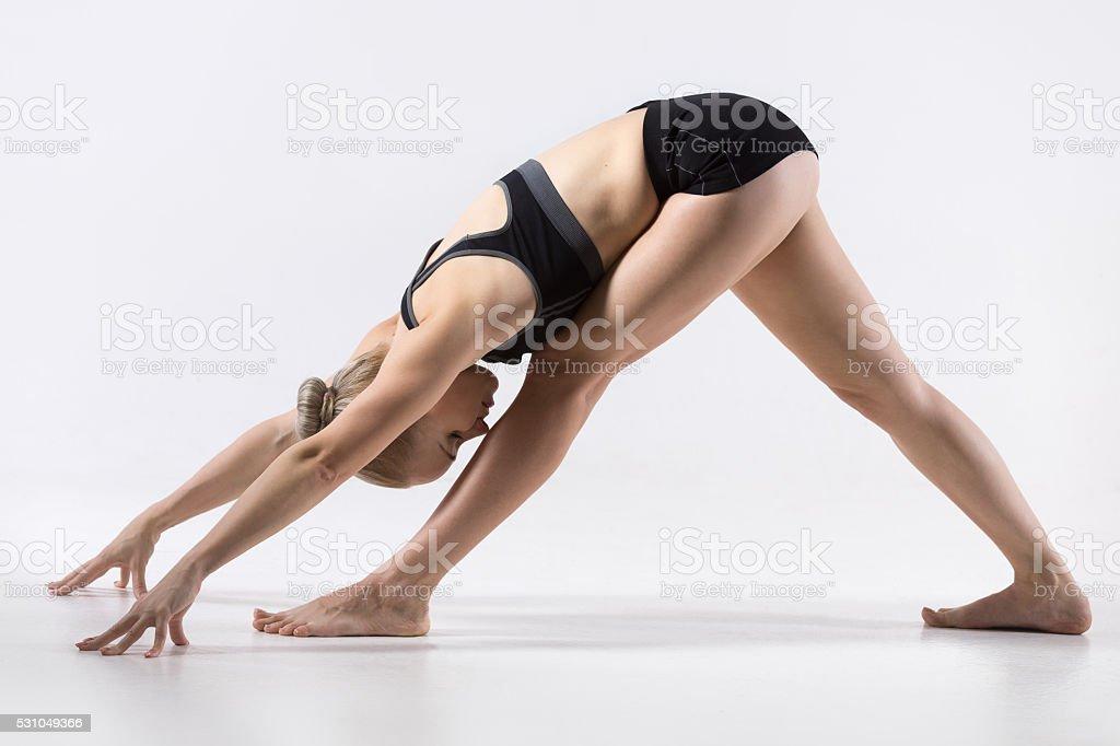 One Sided Fold Pose stock photo
