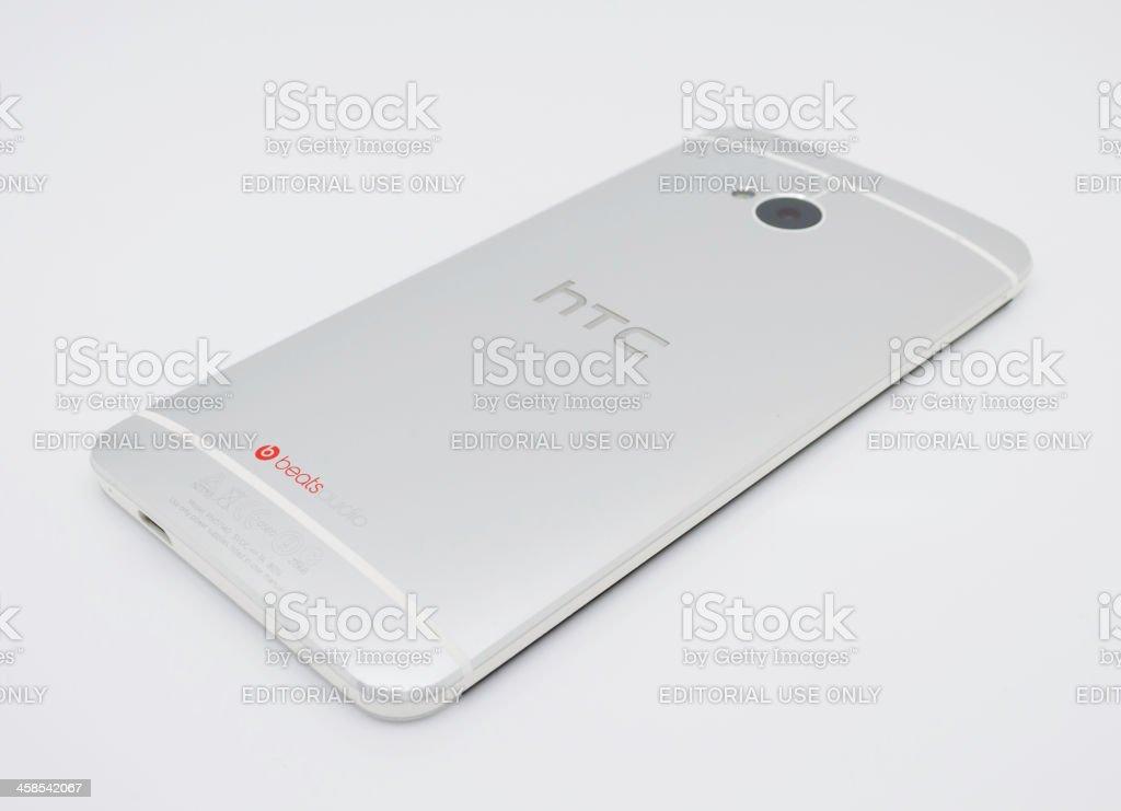 HTC One Smartphone Handset, back stock photo