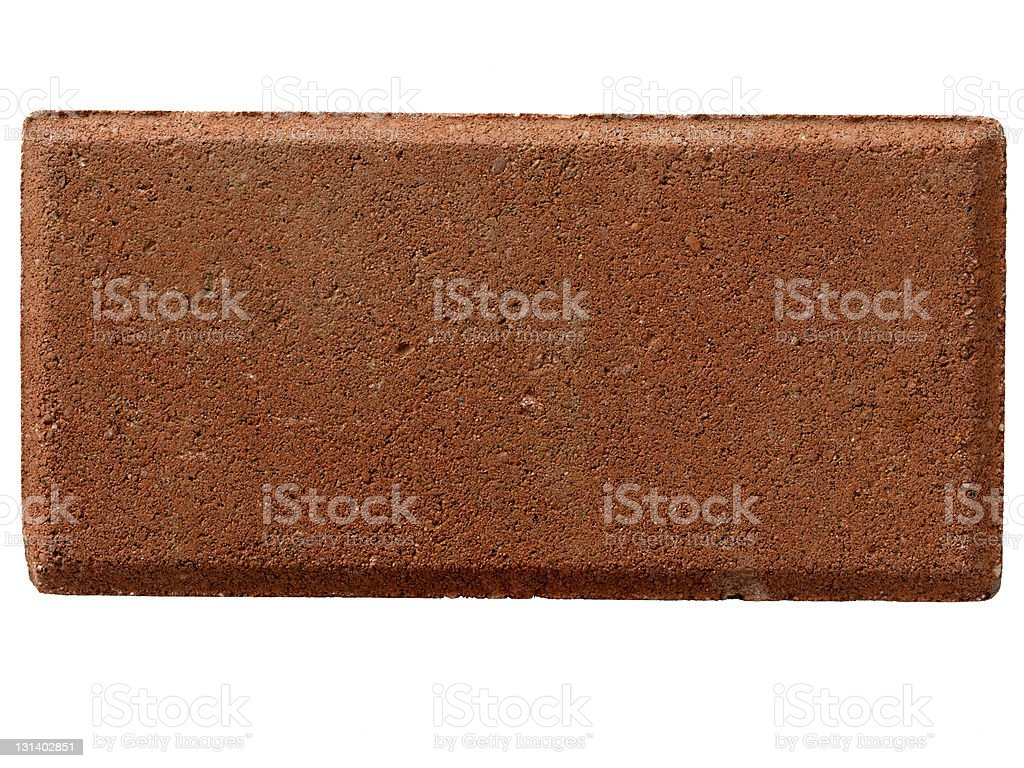 one solitary red brick stock photo