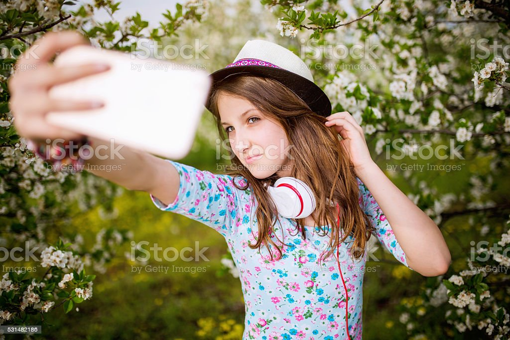 One spring selfie! stock photo