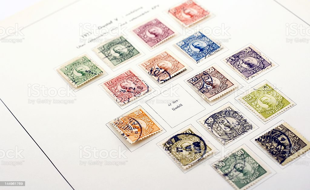 One stamp missing stock photo