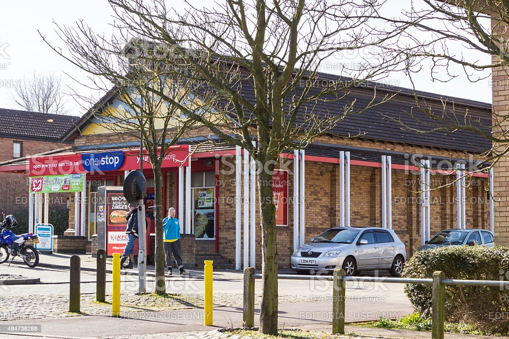One Stop shop at Two Mile Ash area, Milton Keynes stock photo