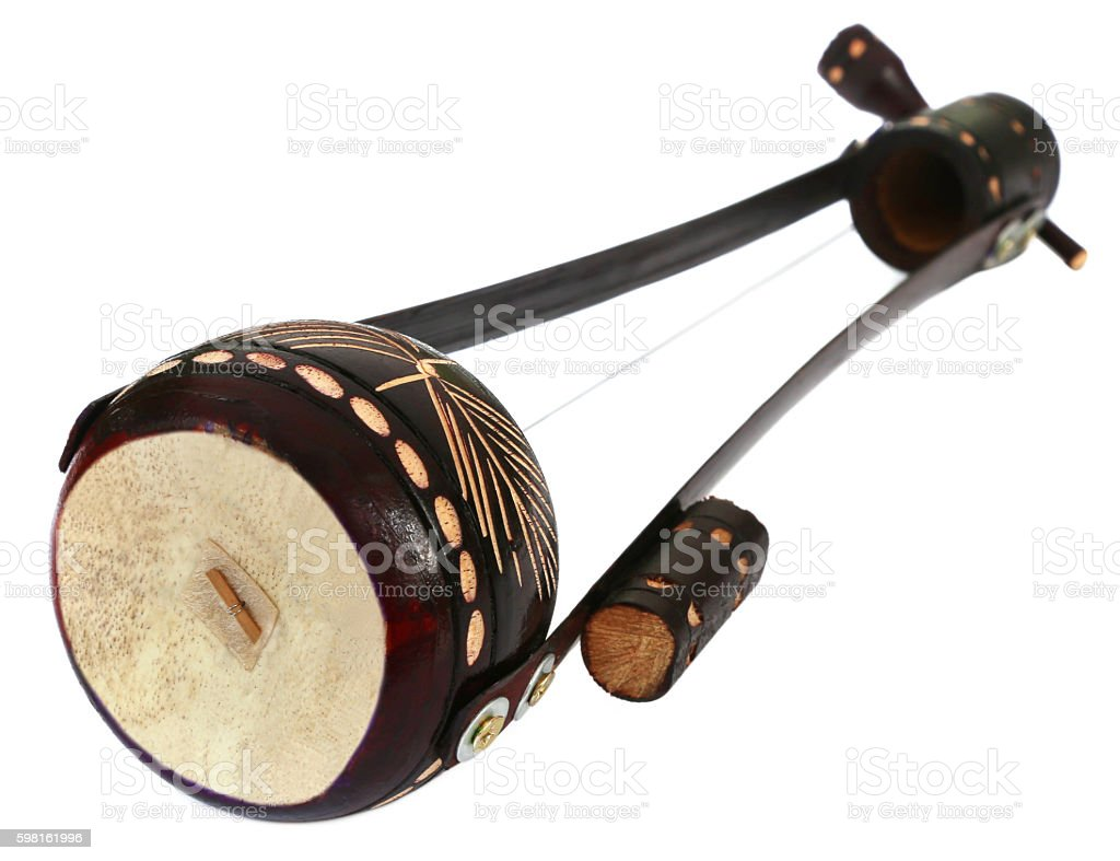 One stringed musical instrument known as Ektara stock photo
