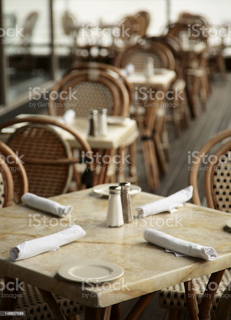 one table for dinner royalty-free stock photo