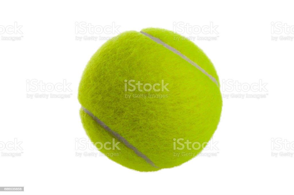 One tennis ball stock photo