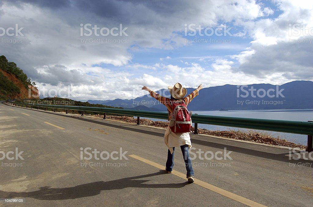 one the road royalty-free stock photo