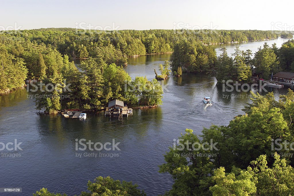 One thousand Islands royalty-free stock photo