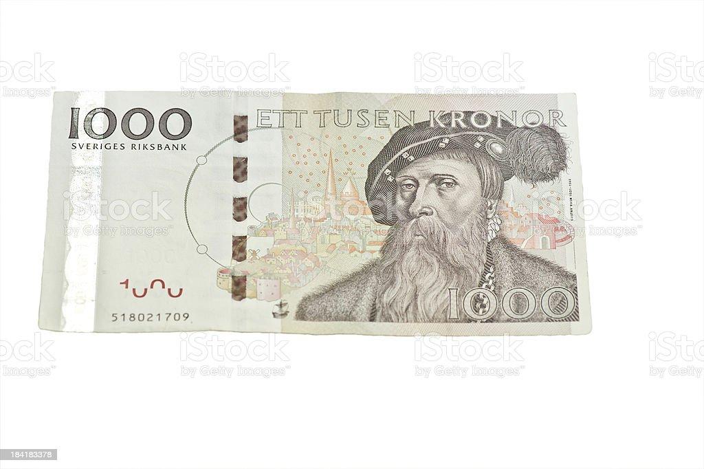 One Thousand kronor stock photo