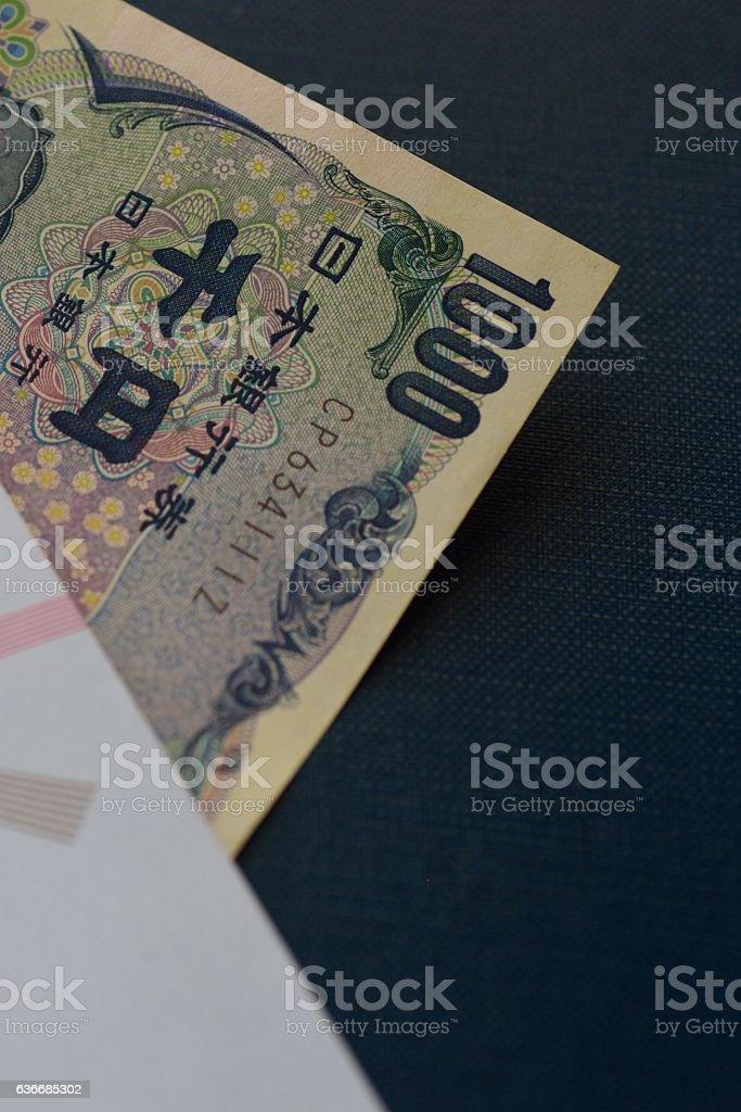 One thousand yen bill stock photo