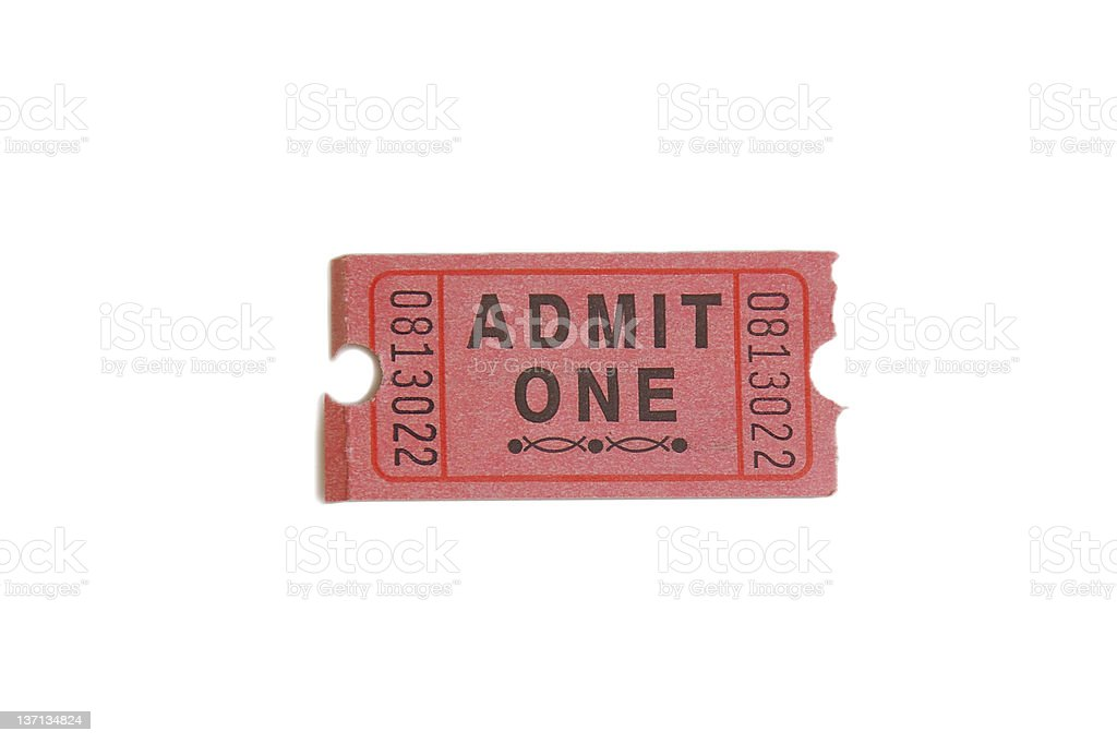 One ticket royalty-free stock photo
