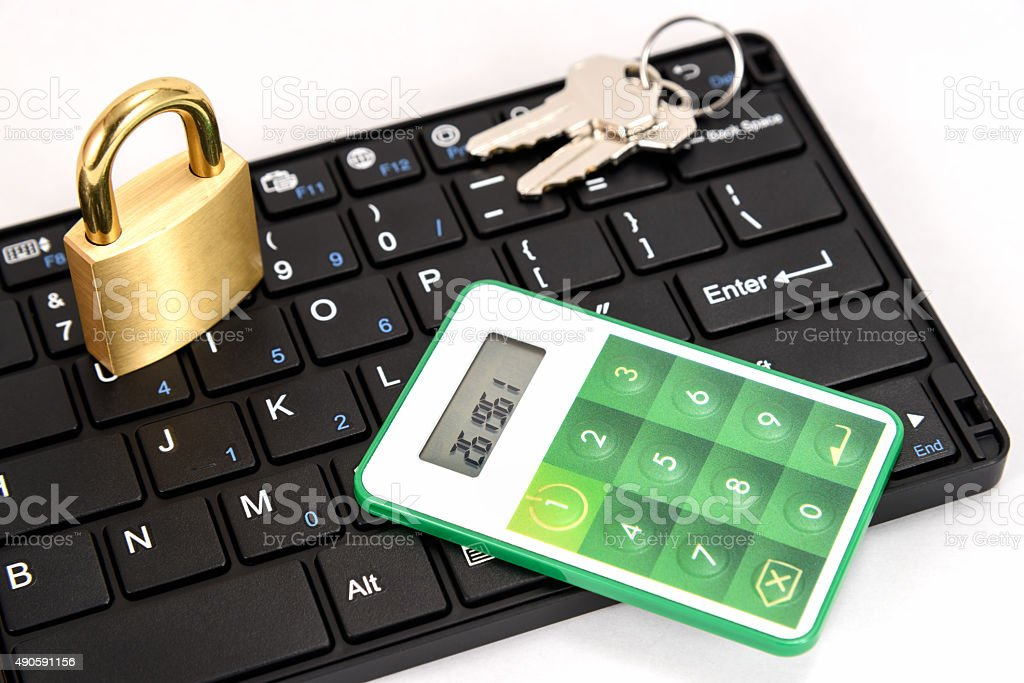 One Time Password Card. stock photo