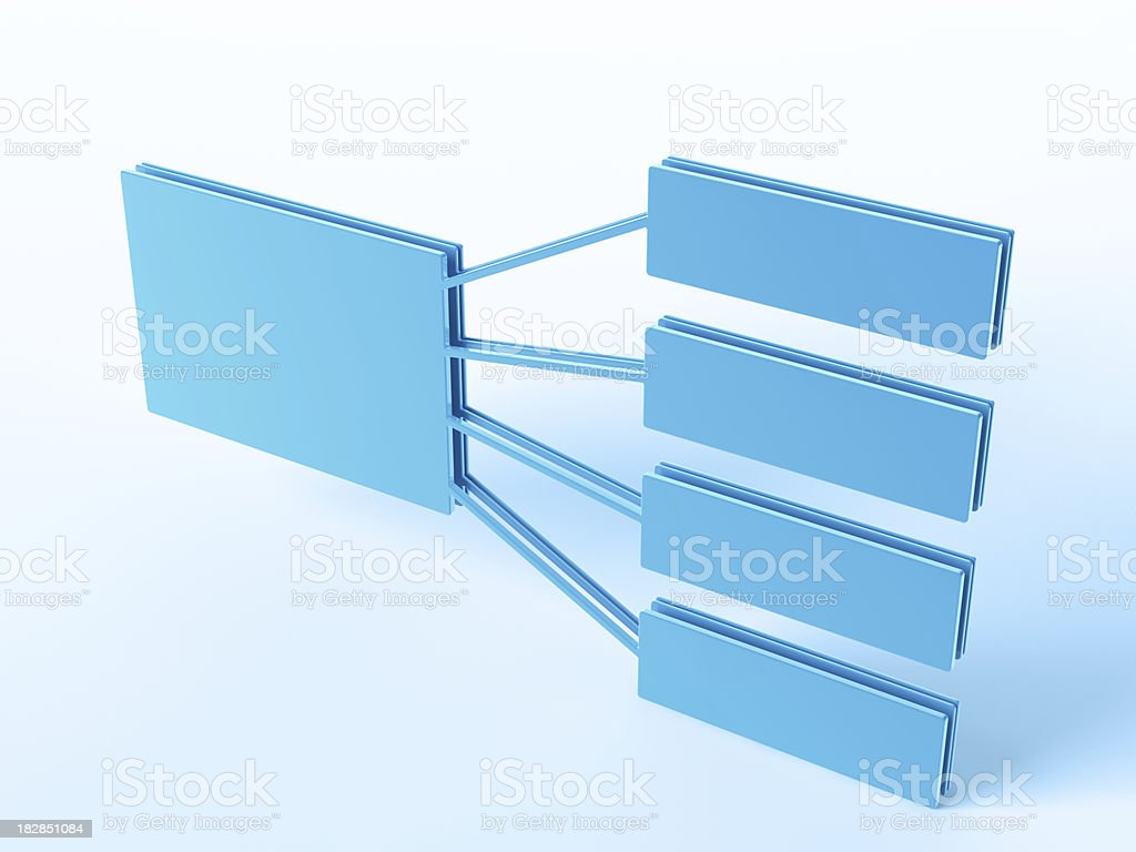 One to Four Organization Chart royalty-free stock photo