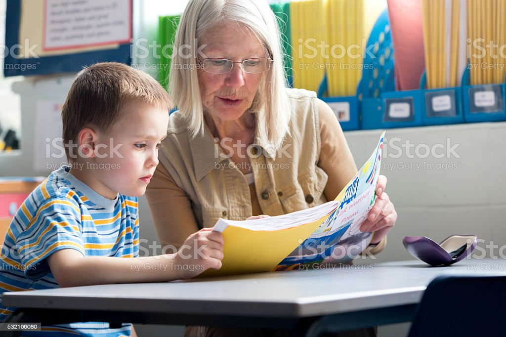 One to one tuition stock photo
