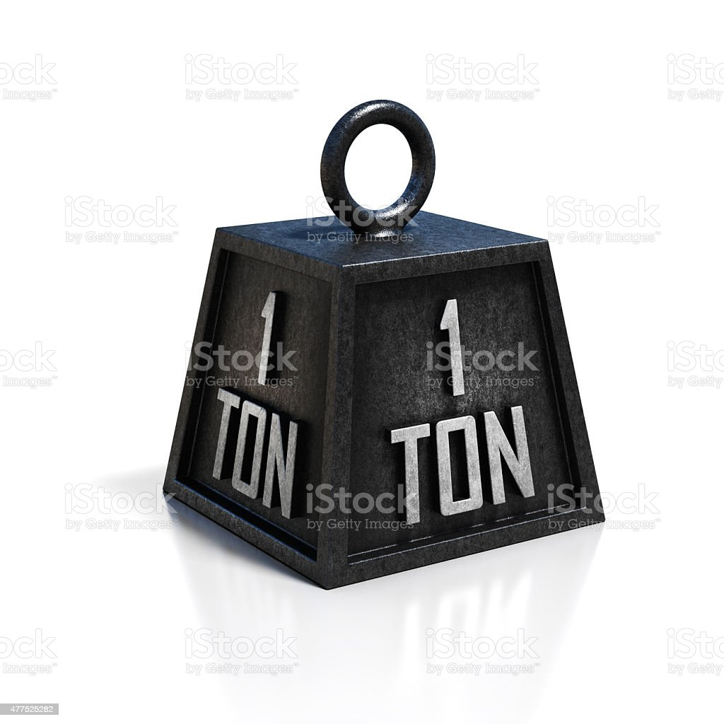 one ton weight stock photo
