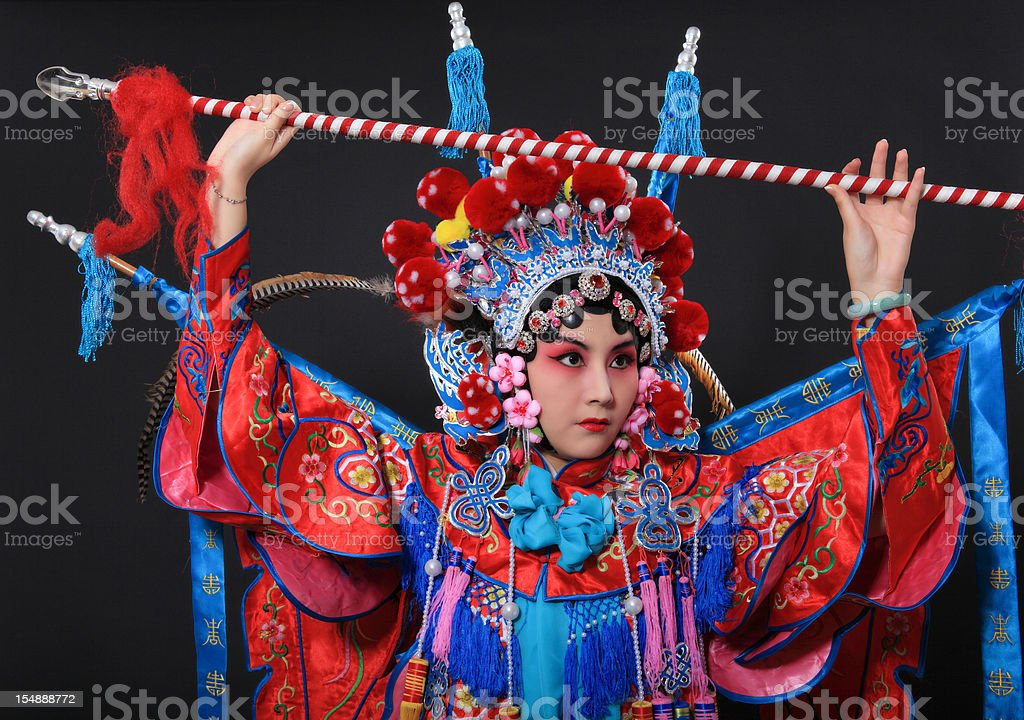 one traditional chinese opera actor stock photo