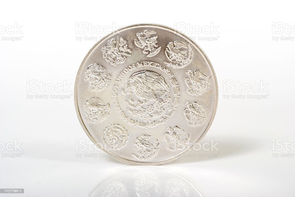 One (Mexican) Troy Ounce stock photo