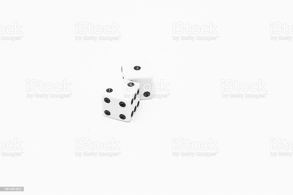 One Two Dice stock photo