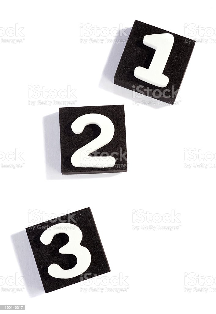 one, two, three royalty-free stock photo