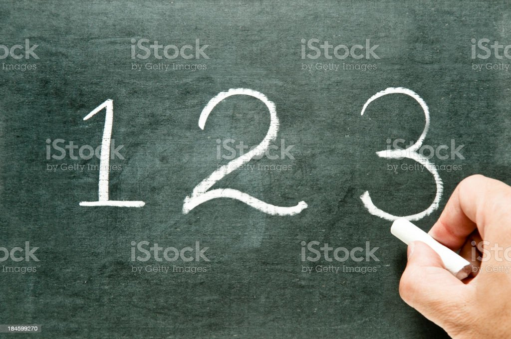 One Two Three royalty-free stock photo