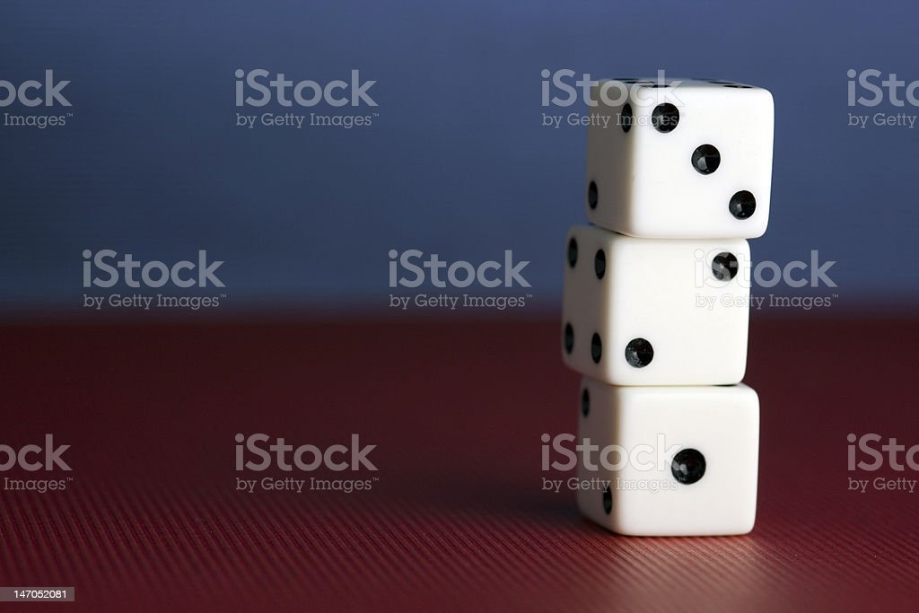 One, Two, Three - Stack of Dice stock photo