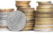 One United Arab Emirates dirham coin