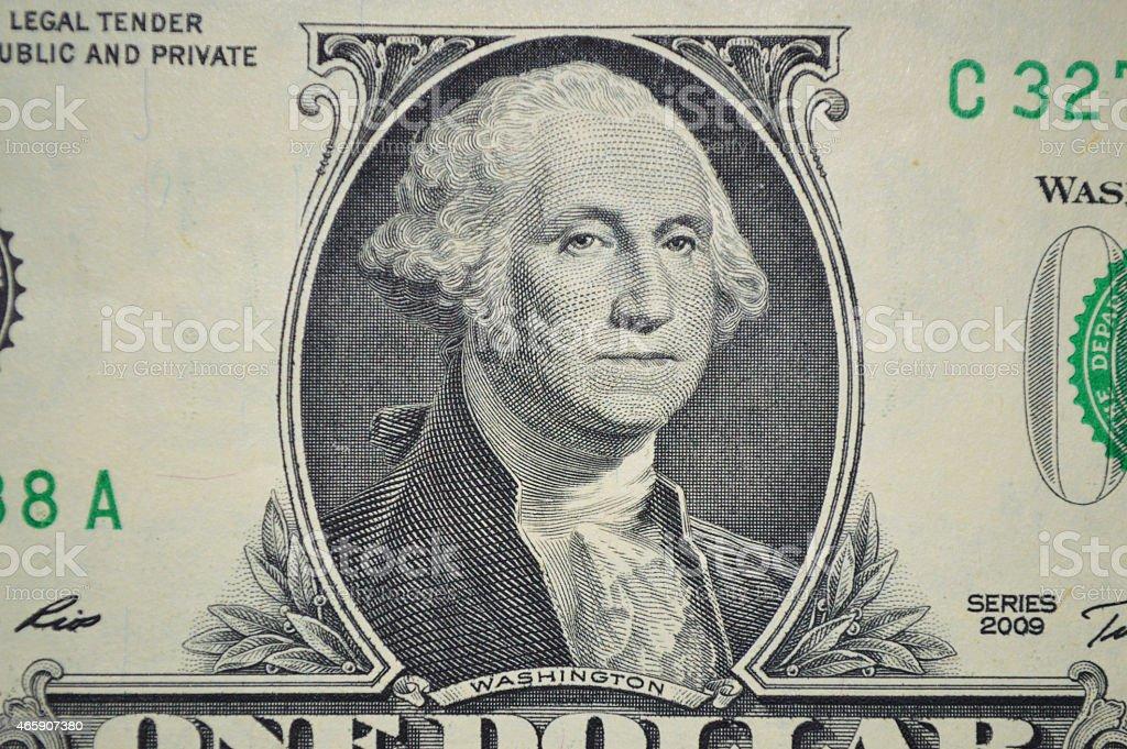 Dólares de un billete de banco de los Estados Unidos foto de stock libre de derechos