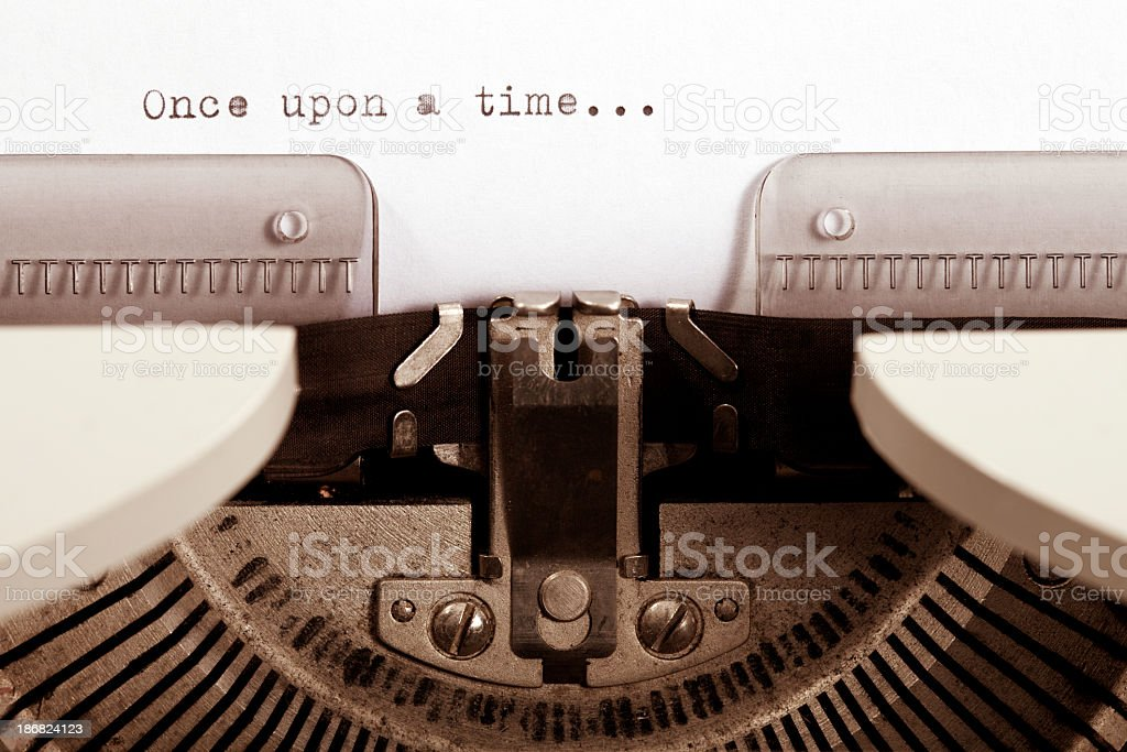 One upon a time typed on a vintage typewriter royalty-free stock photo
