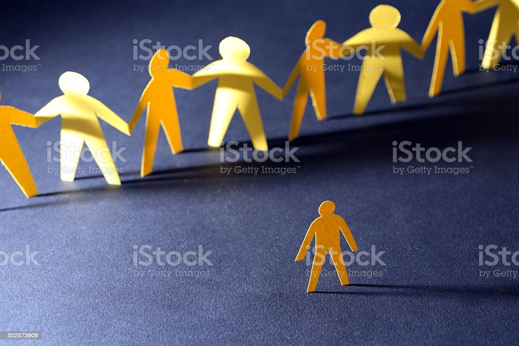 One Versus All stock photo