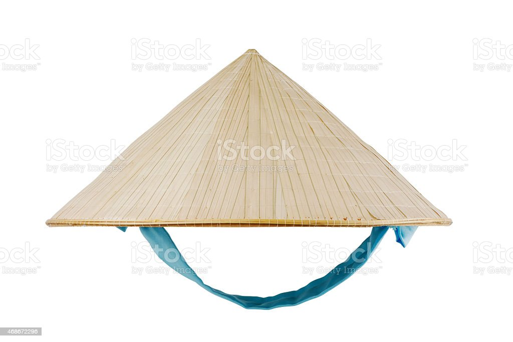 One Vietnamese conical hat isolate on white background stock photo