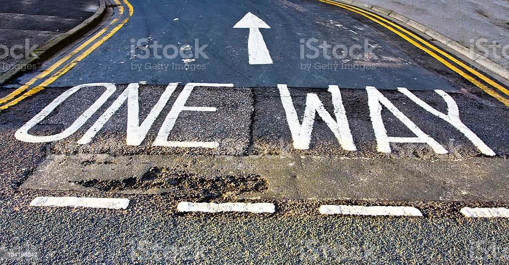 One Way Arrow stock photo