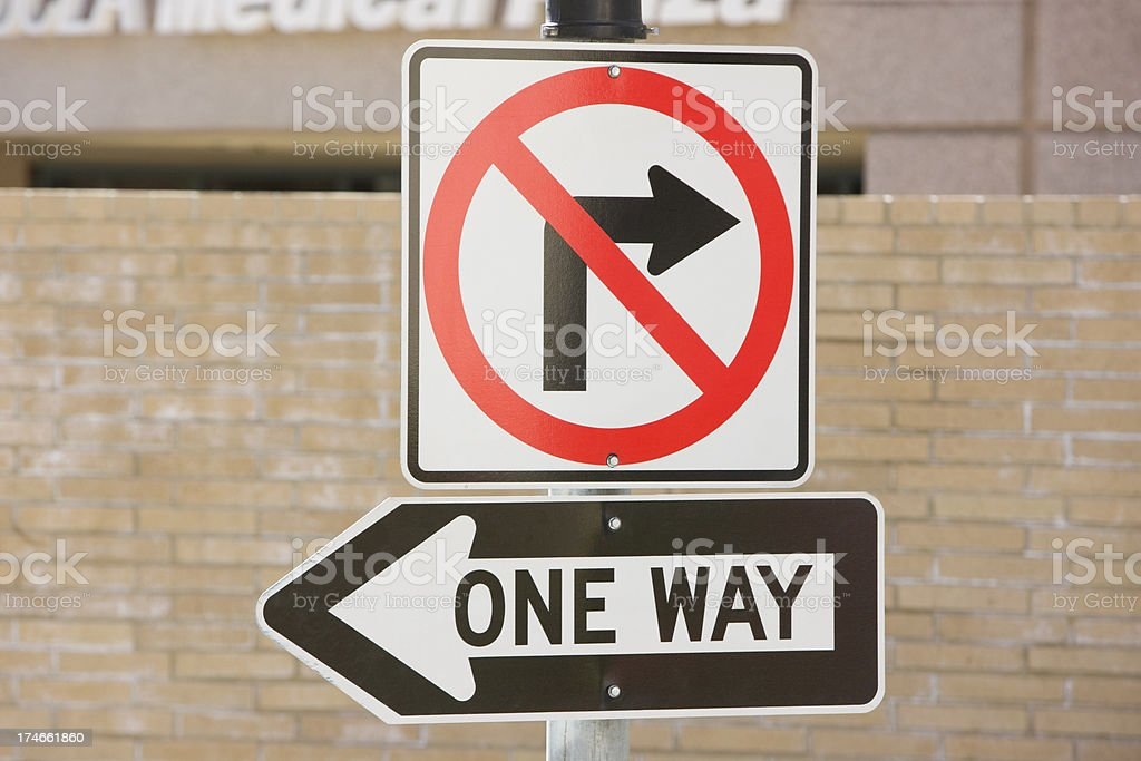 One way arrow sign XXXL royalty-free stock photo