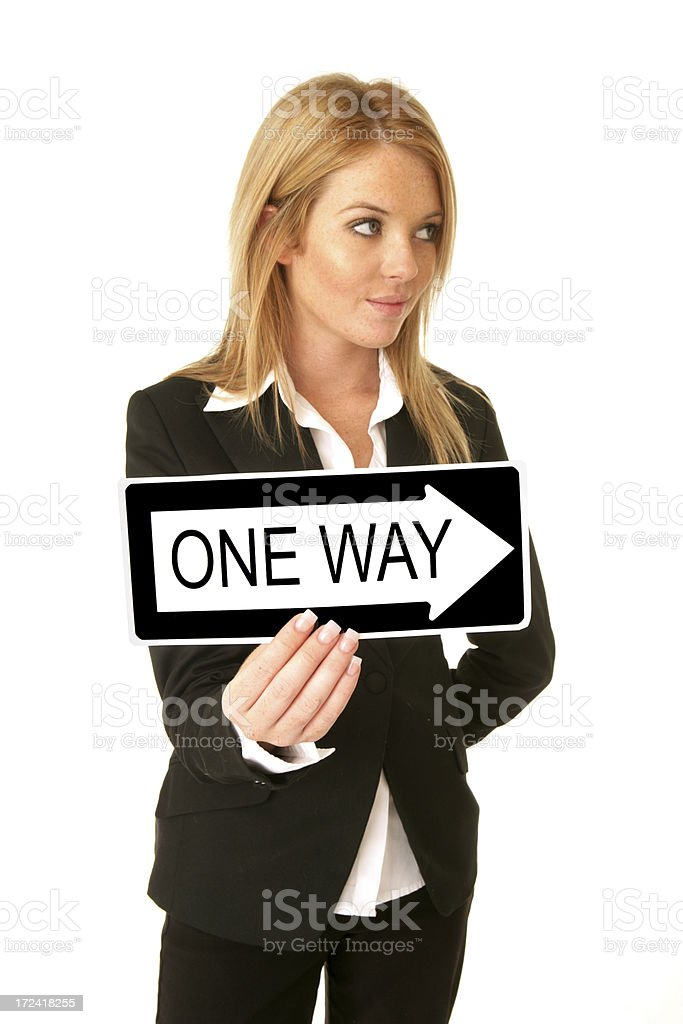 One Way Lady royalty-free stock photo