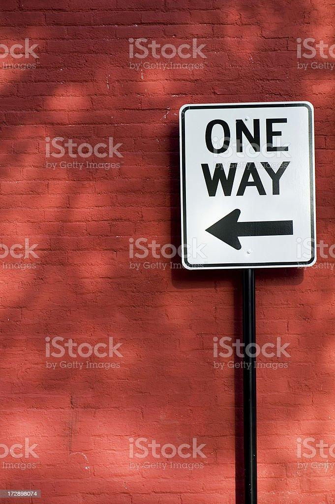 One Way stock photo