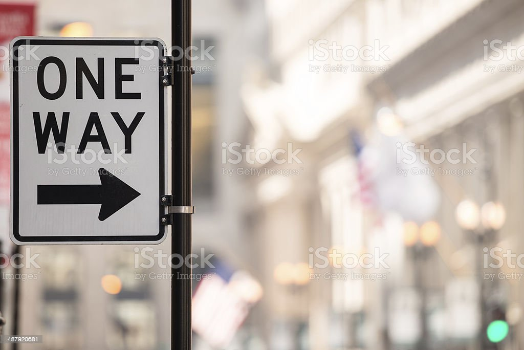 One Way stock photo