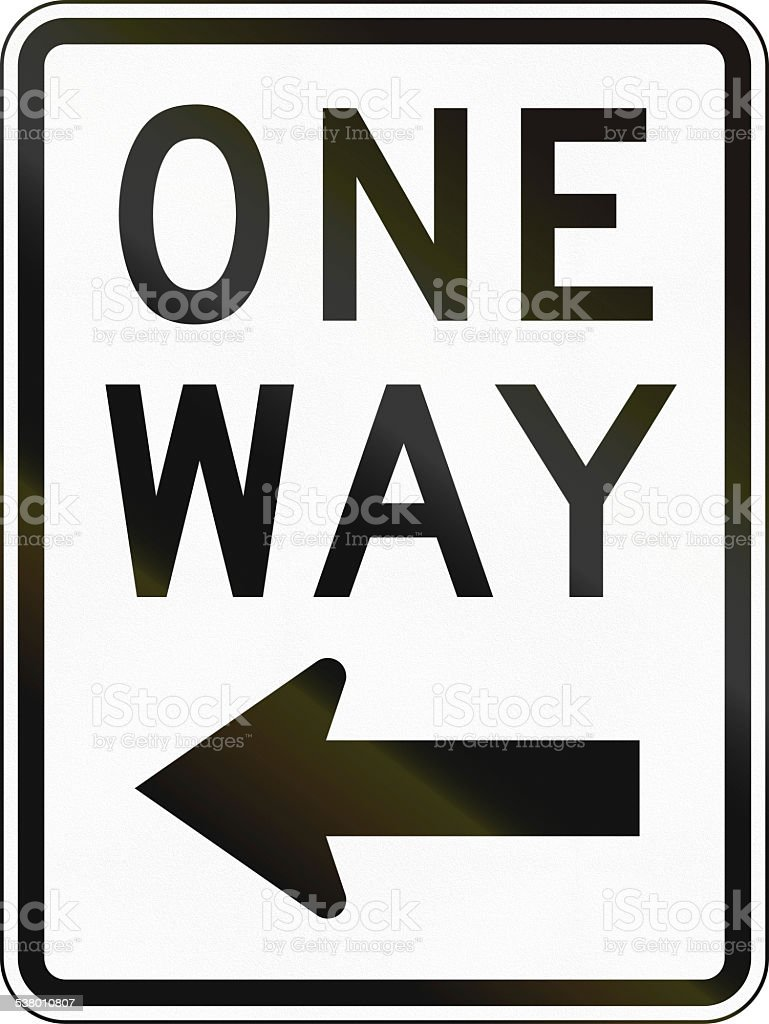 US One Way stock photo