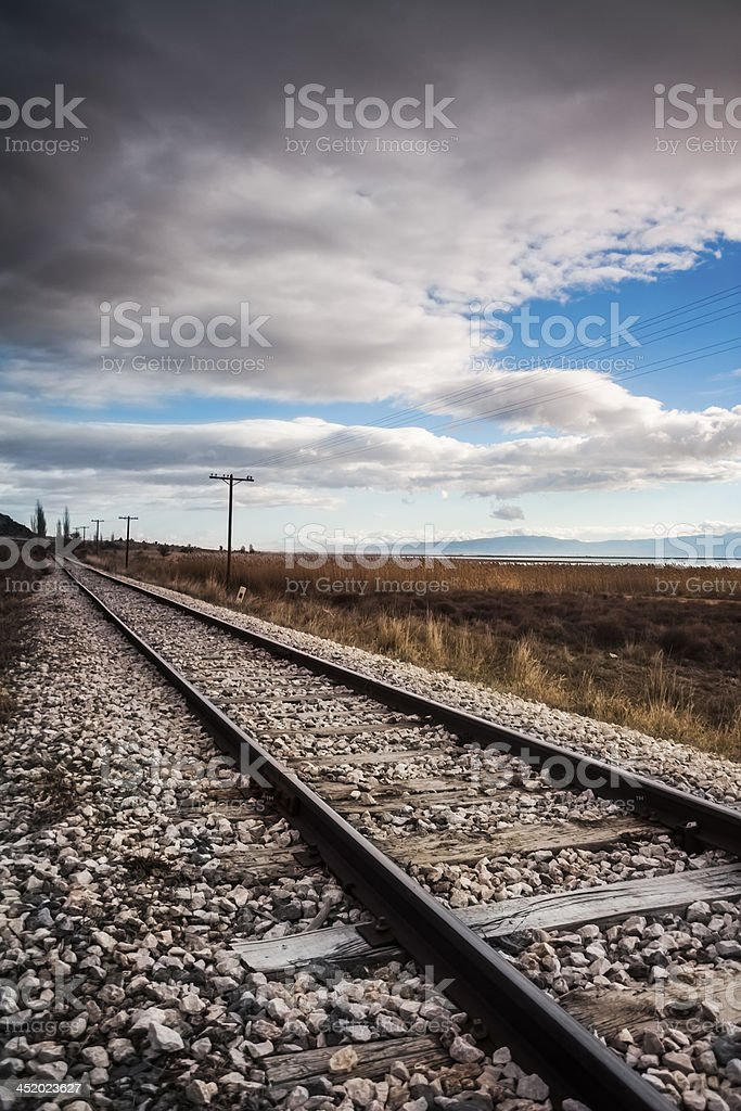 One Way Railway royalty-free stock photo
