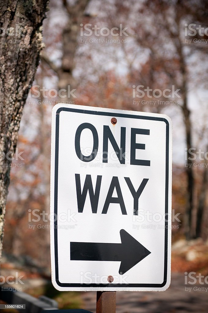 One way road sign royalty-free stock photo