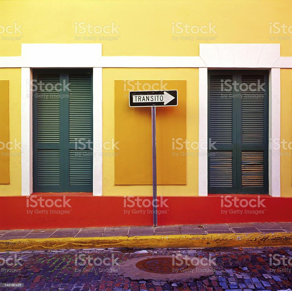One Way San Juan royalty-free stock photo