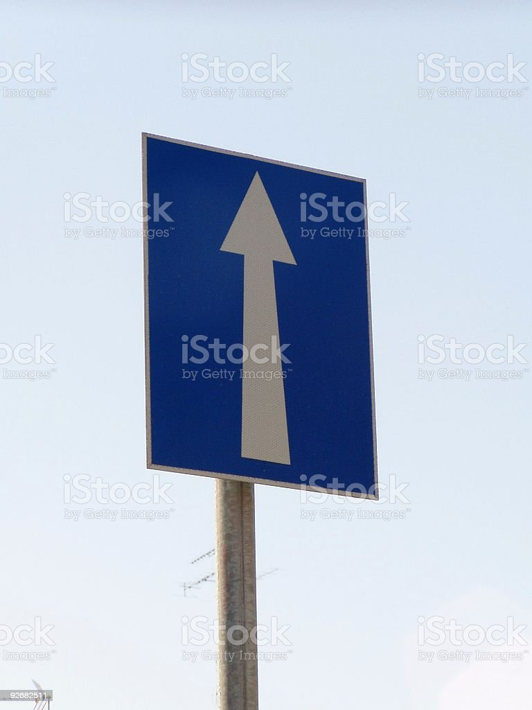 One way sign royalty-free stock photo