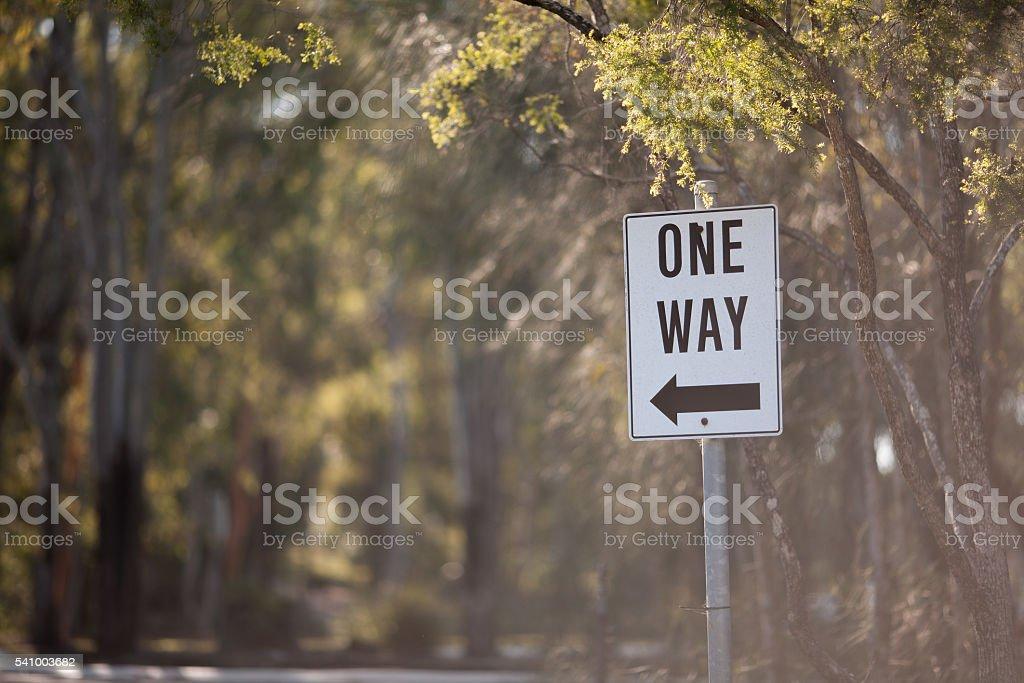 One way signage stock photo