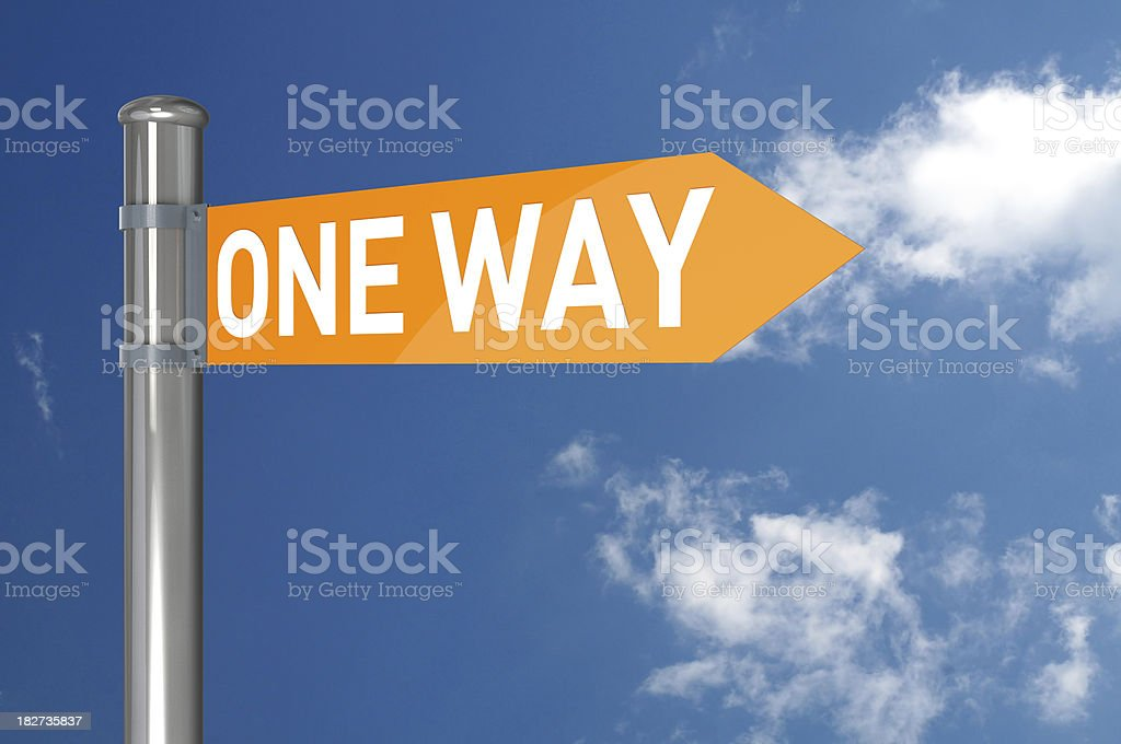One Way Signs royalty-free stock photo